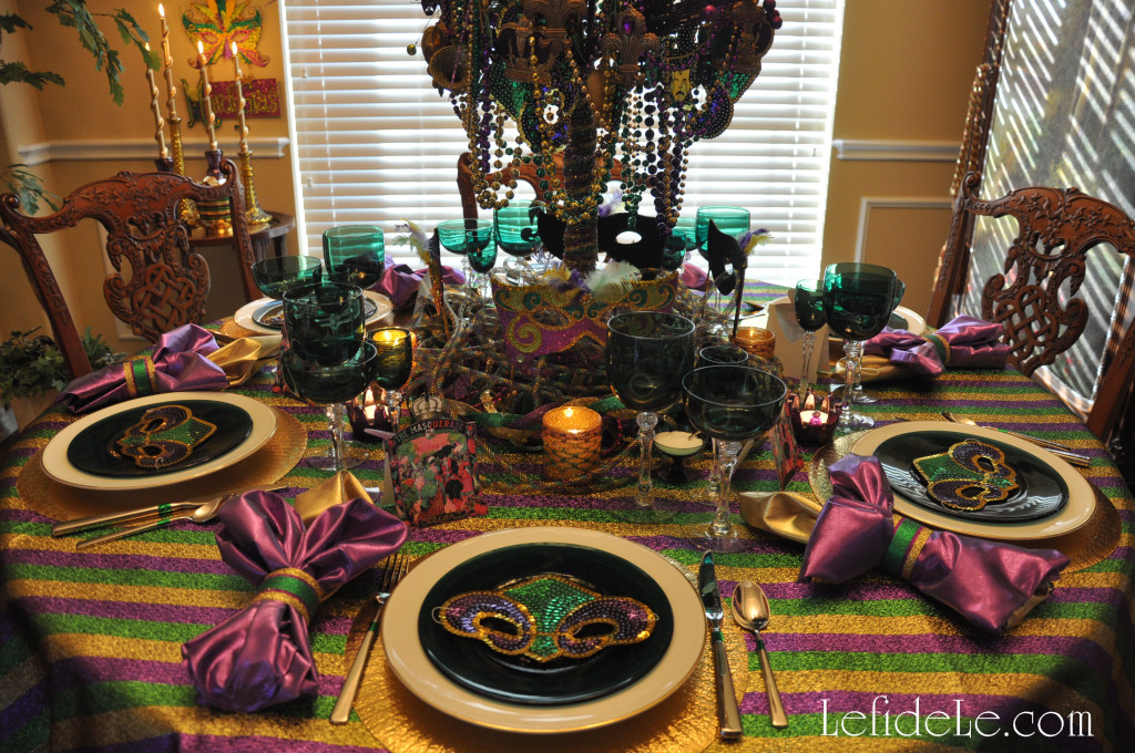 Mardi Gras Masquerade Themed Fat Tuesday Dinner Party