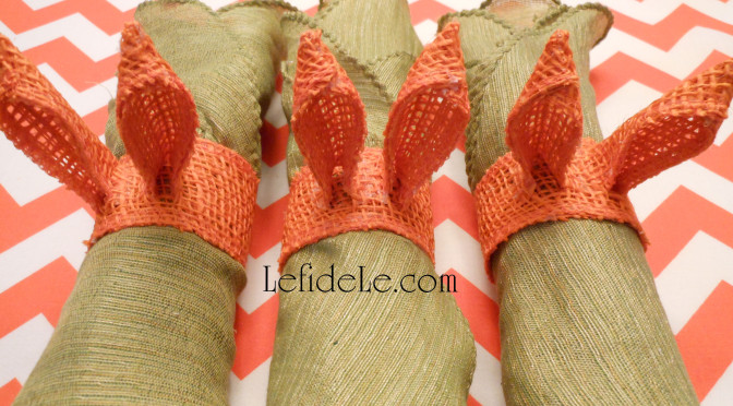 Fast & Easy DIY Burlap Ribbon Bunny Ears Napkin Rings Craft Tutorial (Perfect for Easter, Showers, Luncheons, & Brunches)