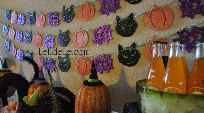 Superfast Glitter Halloween Shapes Garland Remade Craft