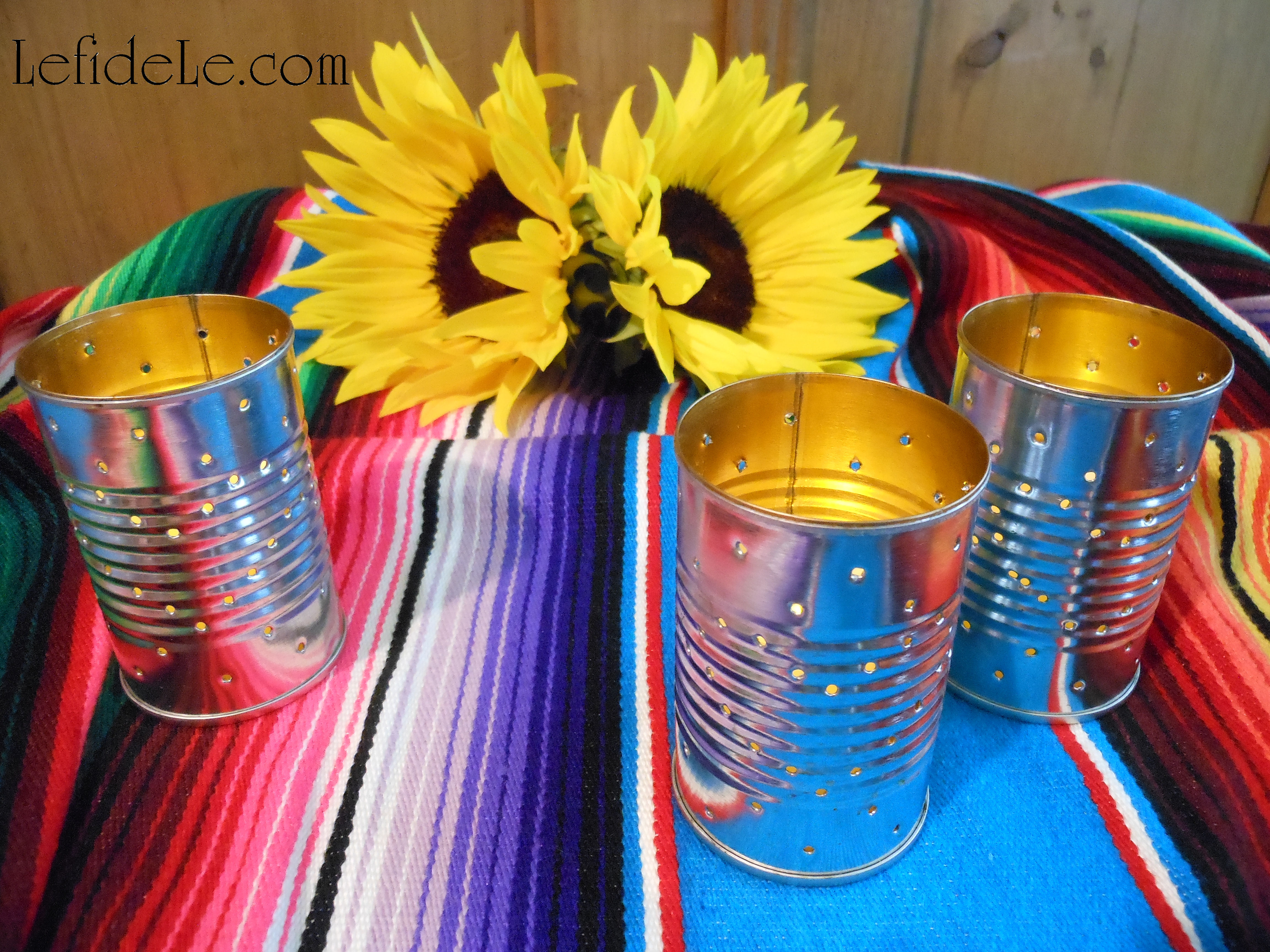 Easy Diy Upcycled Can Tea Light Luminarias Tissue Paper Flowers